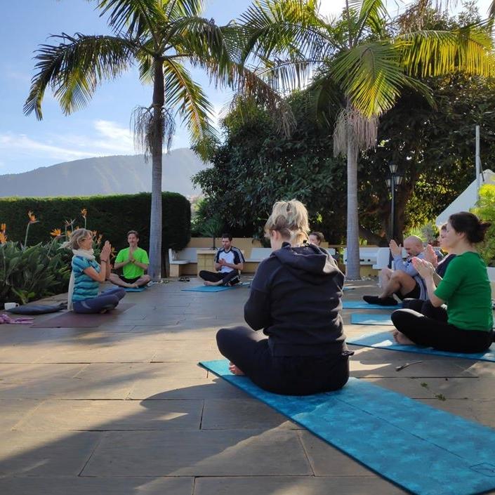 Open air Yoga in Tenerife